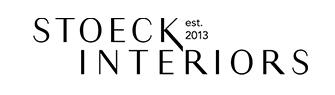 Stoeck Interiors, establish 2013, logo.