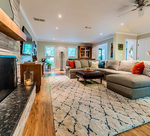 An example of a living room designed by Stoeck Interiors.