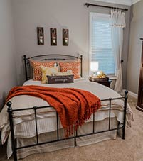 An example of a bedroom