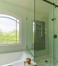 Bathroom example designed by Stoeck Interiors.
