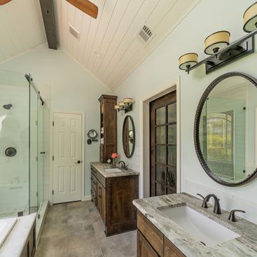 An Atlanta bath room, designed by Stoeck Interiors.